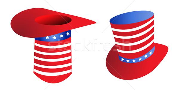 Oom hoed kunst Rood hoofd concept Stockfoto © nezezon
