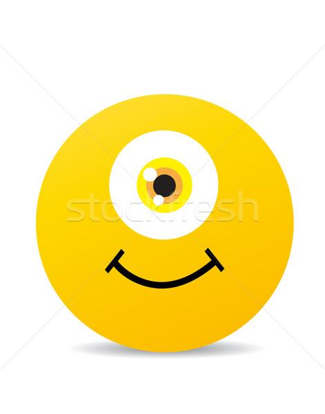 現代 黄色 笑い 幸せ 笑顔 顔 ストックフォト © nezezon