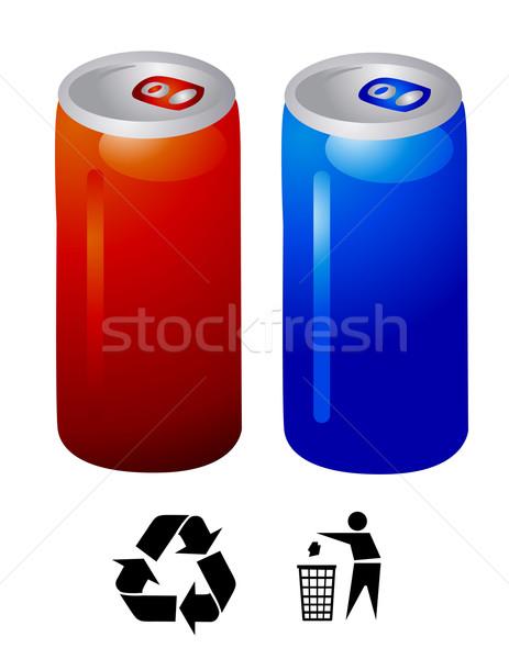 Energiaital vektor háttér nyár kék energia Stock fotó © nezezon