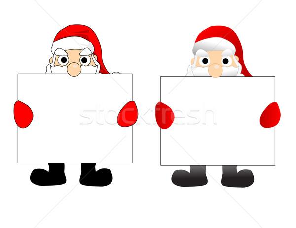 Santa vector Stock photo © nezezon