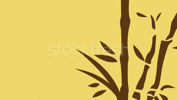 Çin bambu ağaçlar arka plan çerçeve yaprakları Stok fotoğraf © nezezon