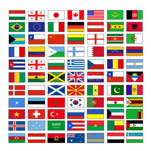 Vektör bayraklar dünya bayrak ülke uluslararası Stok fotoğraf © nezezon
