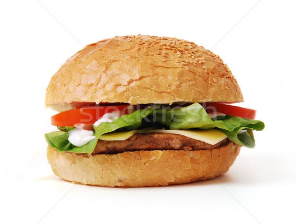 Hamburger verdura bianco grano carne veloce Foto d'archivio © nezezon