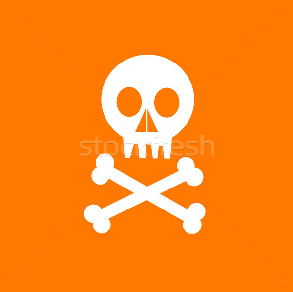 vector skull with crossed bones Stock photo © nezezon