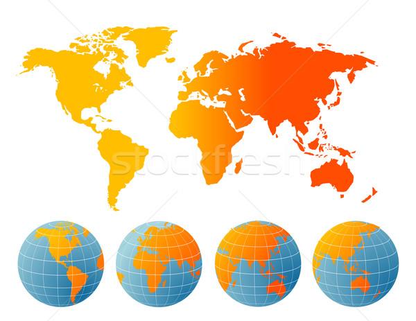 Mappa del mondo business texture luce tecnologia spazio Foto d'archivio © nezezon