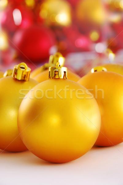 Yellow christmas ball Stock photo © nezezon