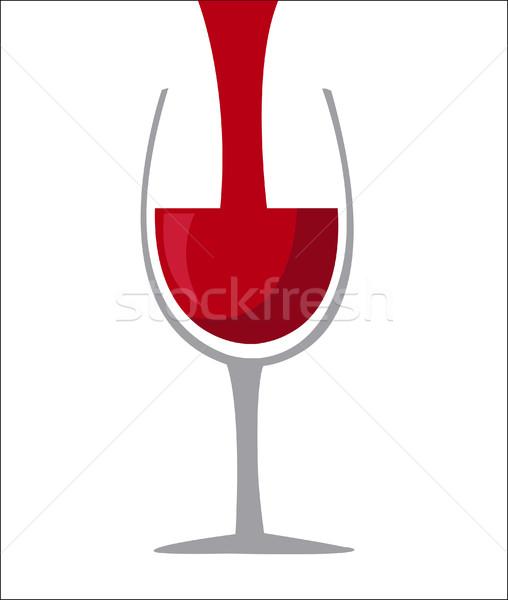 Wijnglas icon wijn ontwerp achtergrond restaurant Stockfoto © nezezon