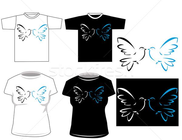 美しい ベクトル Tシャツ デザイン ファッション 美 ストックフォト © nezezon