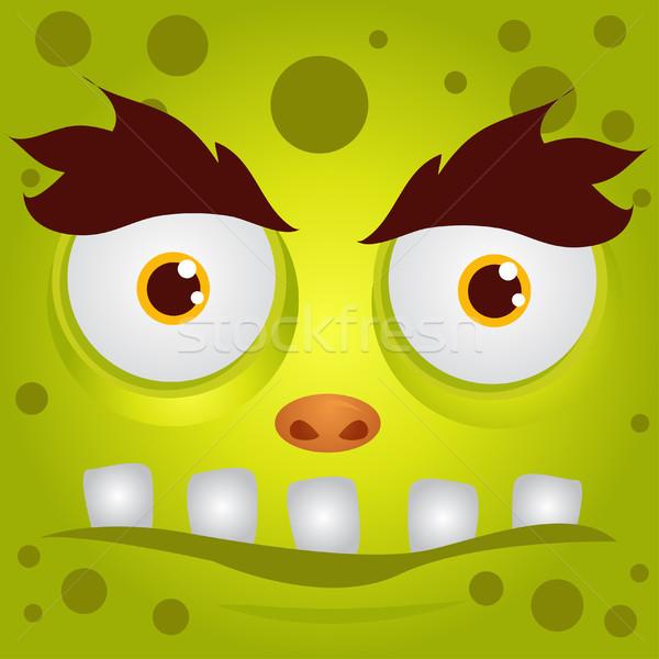 Desenho animado monstro textura cara arte cabeça Foto stock © nezezon