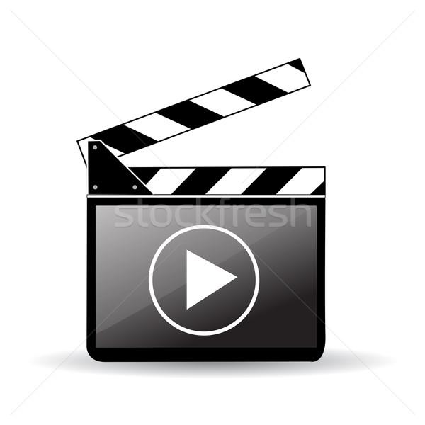 Bordo film industria schermo video cinema Foto d'archivio © nezezon