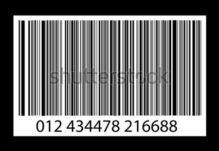 bar-code on white background Stock photo © nezezon