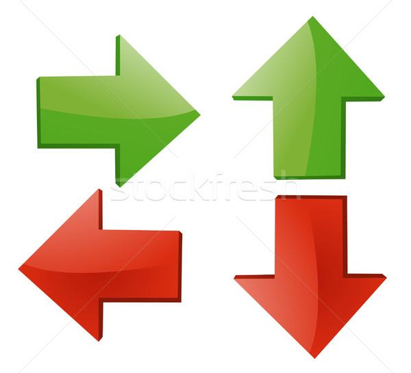 Arrow sign vector illustration on white Stock photo © nezezon