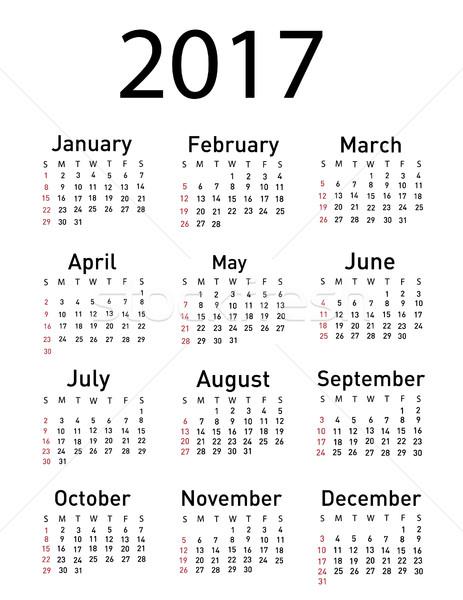 Calendário negócio fundo outono branco gráfico Foto stock © nezezon