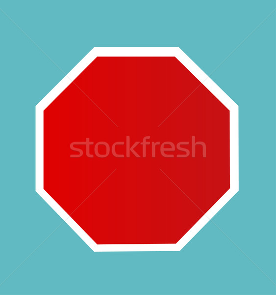 Blank Stop Sign Stock photo © nezezon