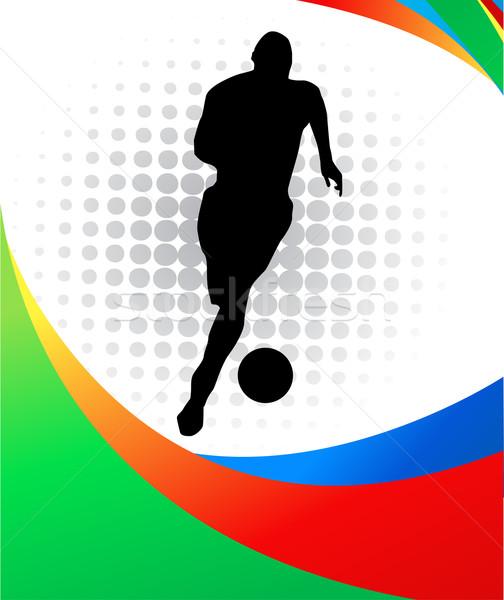 サッカー スポーツ フラグ チーム ゲーム ストックフォト © nezezon