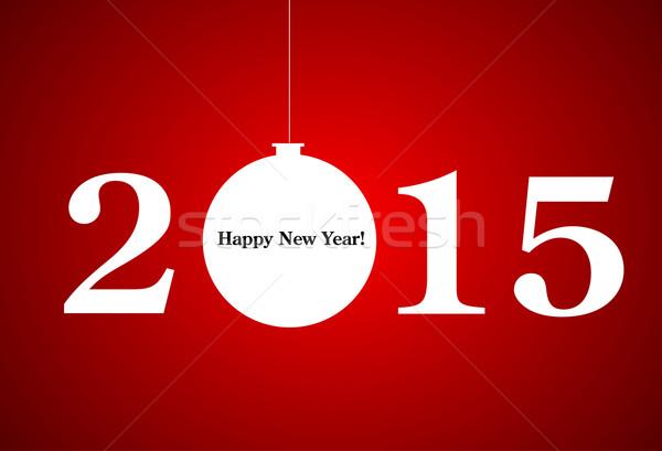 2015 ano novo feliz férias cartão natal Foto stock © nezezon