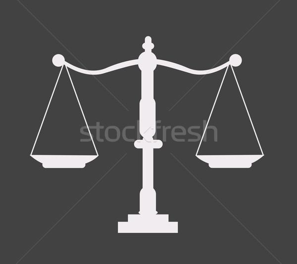 Giustizia scala icona avvocato libertà bianco Foto d'archivio © nezezon
