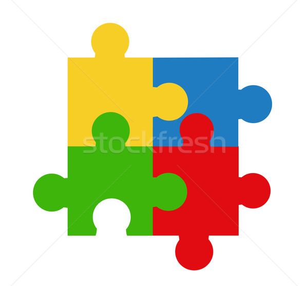 Puzzle vector illustration  Stock photo © nezezon