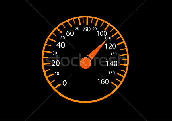 Voiture noir vitesse trafic gaz engins Photo stock © nezezon