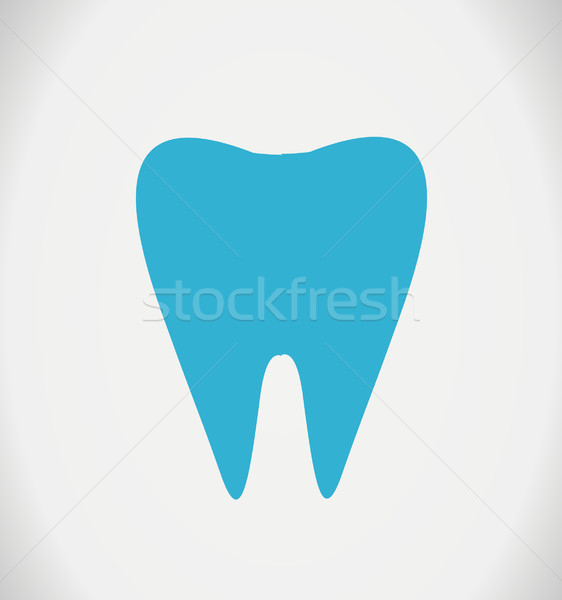 Stock photo: Tooth Vector illustration on white