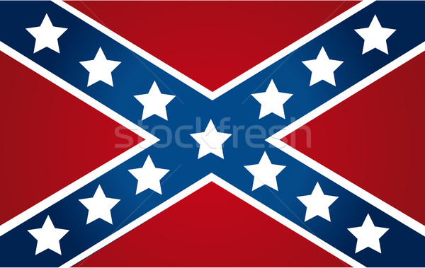National flag of the Confederate States of America Stock photo © nezezon