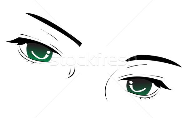 Vettore occhi design segno nero retro Foto d'archivio © nezezon