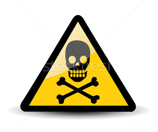 Warning sign with skull Stock photo © nezezon
