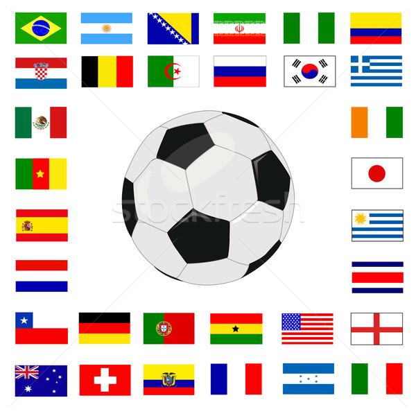Calcio campionato 2014 sfondo gruppo Cup Foto d'archivio © nezezon