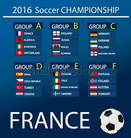 Europeo fútbol campeonato 2016 Francia grupos Foto stock © nezezon
