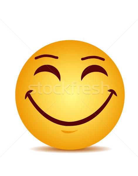 Stockfoto: Moderne · Geel · lachend · gelukkig · glimlach · gezicht