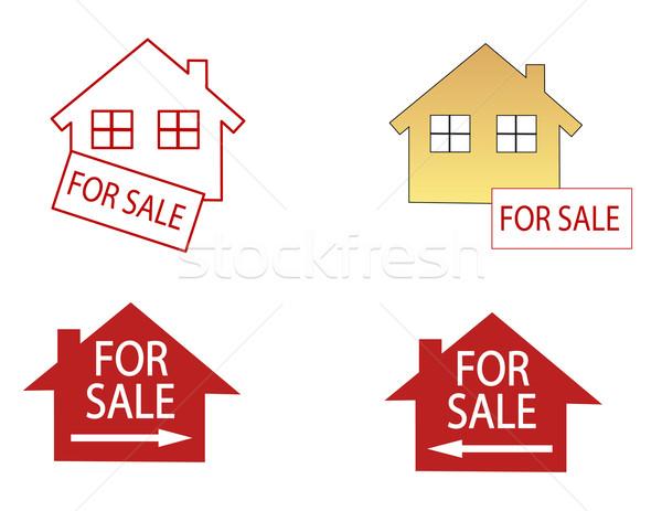 дома продажи домой знак Финансы страхования Сток-фото © nezezon