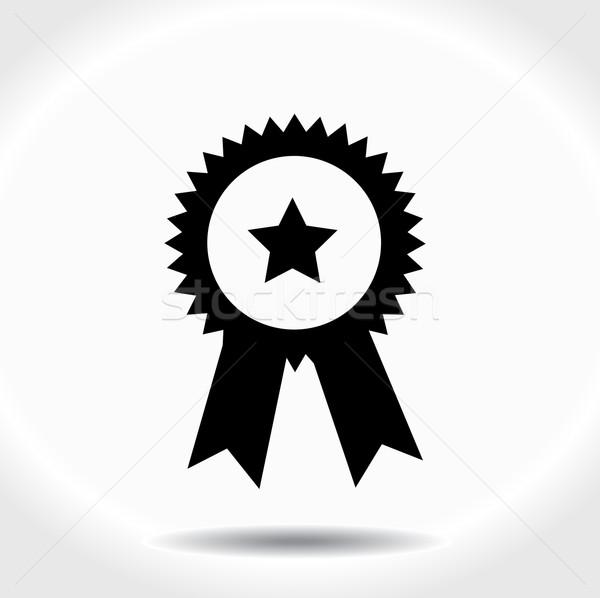 Prêmio ícone isolado branco cartão fita Foto stock © nezezon