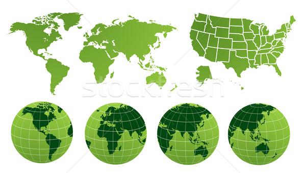 ストックフォト: 世界地図 · ビジネス · テクスチャ · 光 · 技術 · スペース
