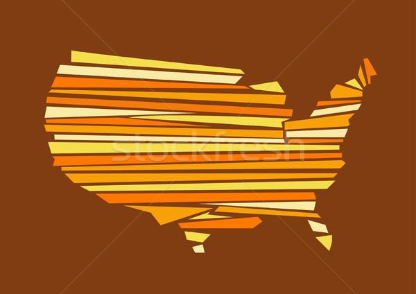 Stock fotó: USA · térkép · világ · szín · új · Amerika
