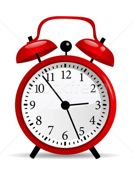 クロック オフィス 赤 速度 時計 白 ストックフォト © nezezon