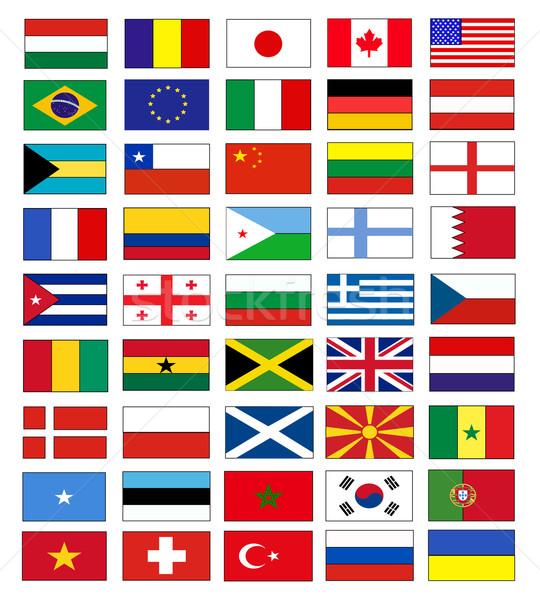 Vektör bayraklar Avrupa sendika uluslararası hükümet Stok fotoğraf © nezezon