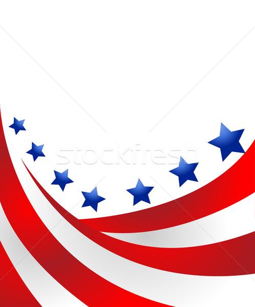 USA zászló stílus vektor csillag hullám Stock fotó © nezezon
