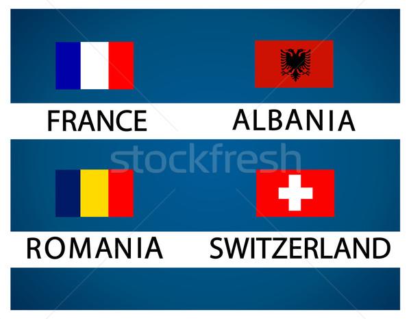 European soccer cup - group A Stock photo © nezezon