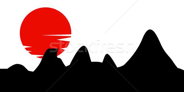 Traditional Japanese painting Stock photo © nezezon
