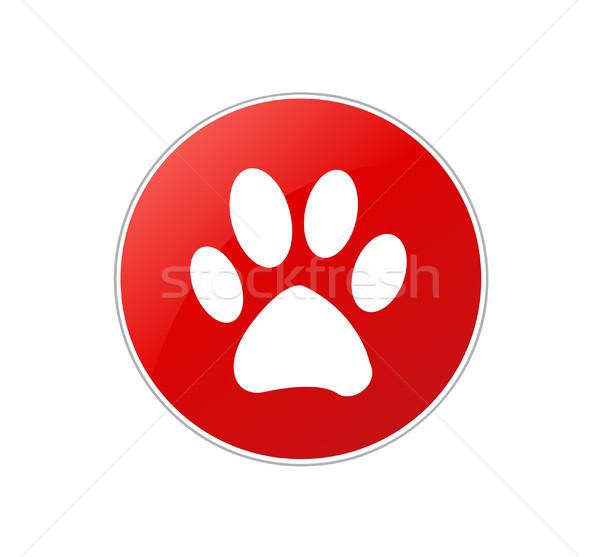 лапа печать вектора собака счастливым службе Сток-фото © nezezon