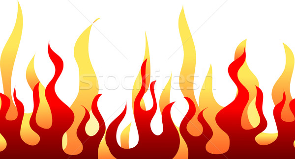 Red burning flame pattern. Vector. Stock photo © nezezon