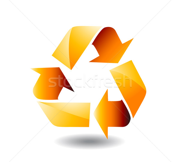 Vector recycle sign Stock photo © nezezon