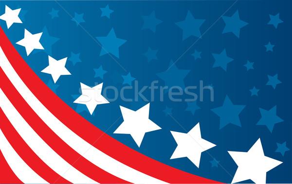 Foto stock: EUA · bandeira · estilo · vetor · vento · branco