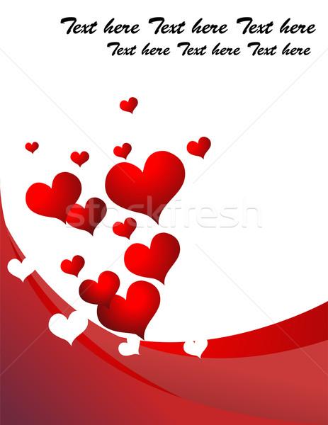 Foto d'archivio: Retro · cuore · amore · abstract · sfondo · frame