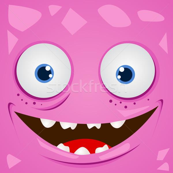 Vektor Monster Karikatur Auge Kopf Zeichnung Stock foto © nezezon