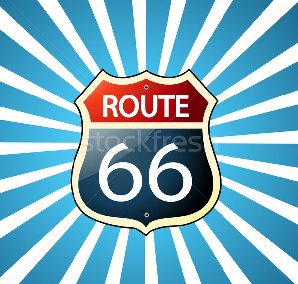 Route 66 sign  Stock photo © nezezon