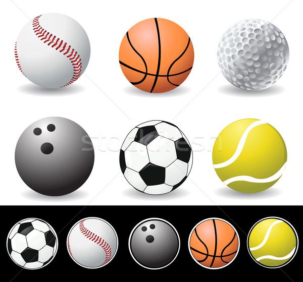 vector illustration of sport balls Stock photo © nezezon