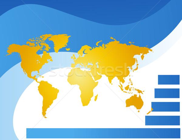 Mapa do mundo vetor mapa viajar área de trabalho américa Foto stock © nezezon