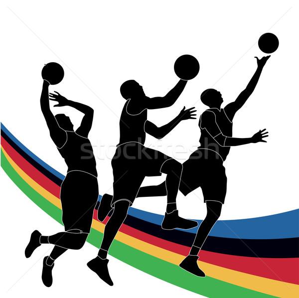 Olimpiai játékok sport test háttér sziluett verseny Stock fotó © nezezon