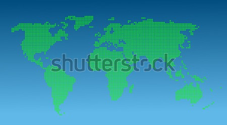 Map of the World made with rounded squares pattern Stock photo © nezezon
